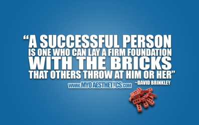 QOTD #013 - A successful person is one who can lay a firm foundation with the bricks that others throw at him or her